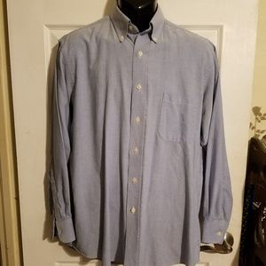 Chaps Oxford Button Down Light Blue Shirt